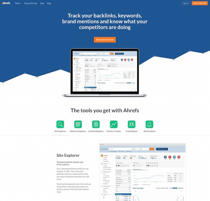 AHREFs Link Building Tool