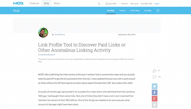 Link Profile Tool