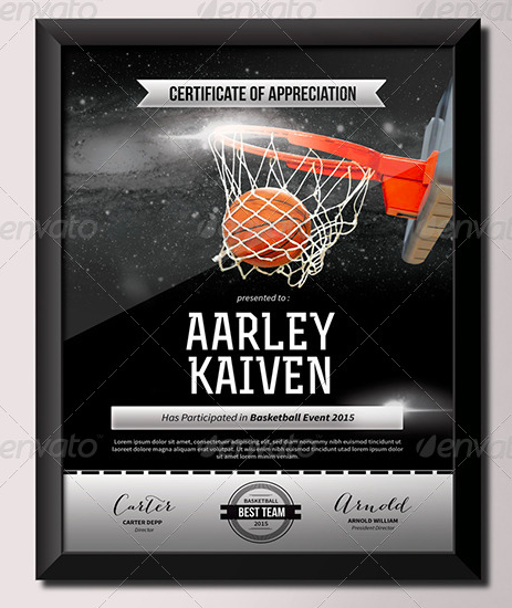 4-basketball-certificate-template
