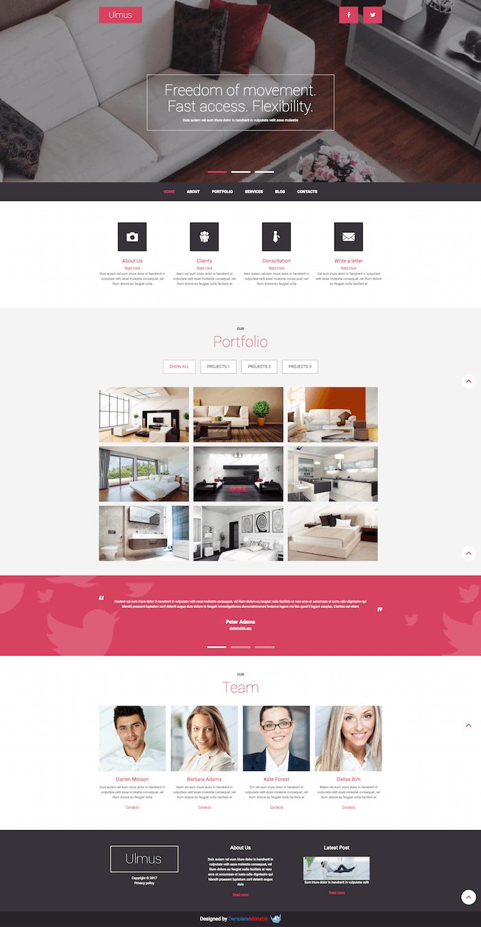 Interior & Furniture Free Joomla Template