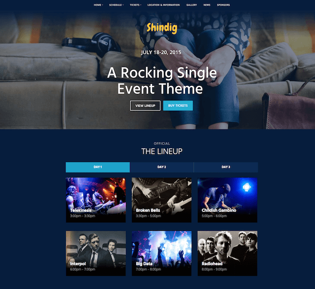 Shindig WordPress Theme