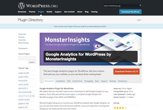 Google Analytics for WordPress by MonsterInsights