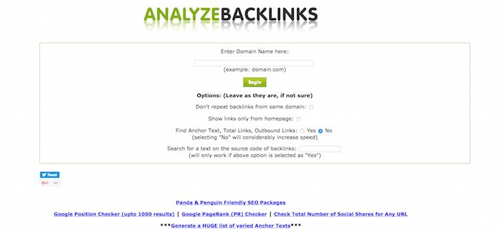 Analyz Backlink
