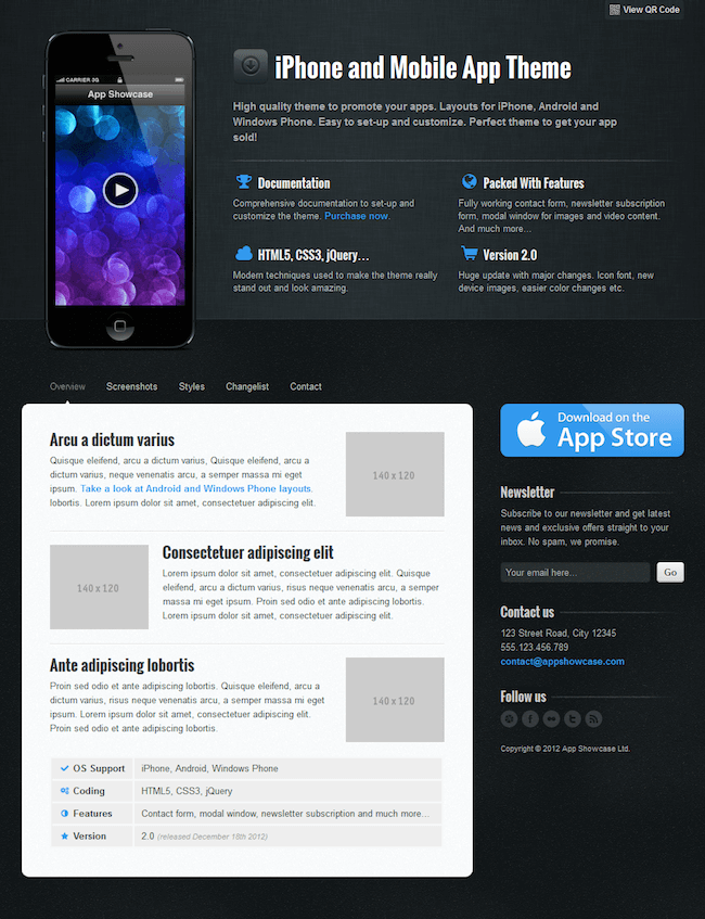 App Showcase Template