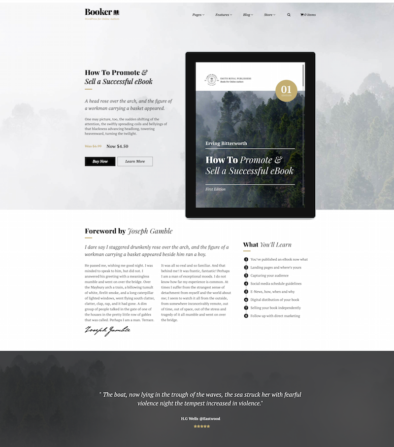 Booker WordPress theme 2