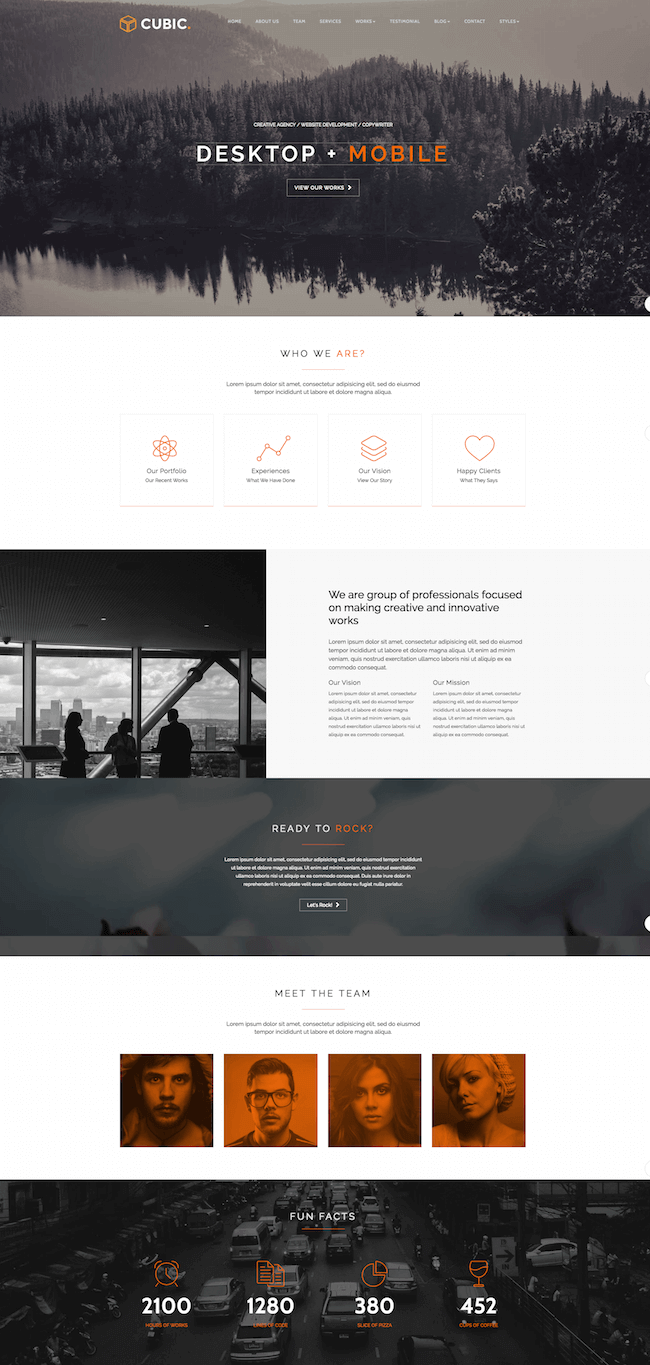 Cubic One Page JOOMLA Template