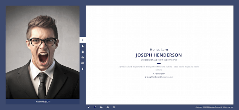Henderson vCard WordPress Theme