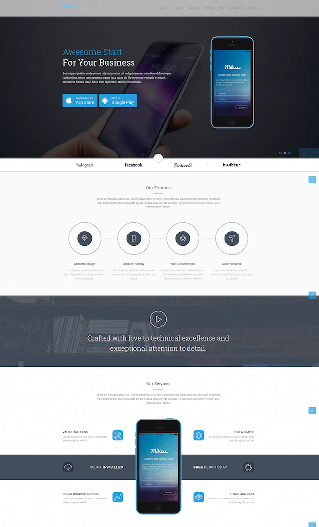 Milness WordPress theme