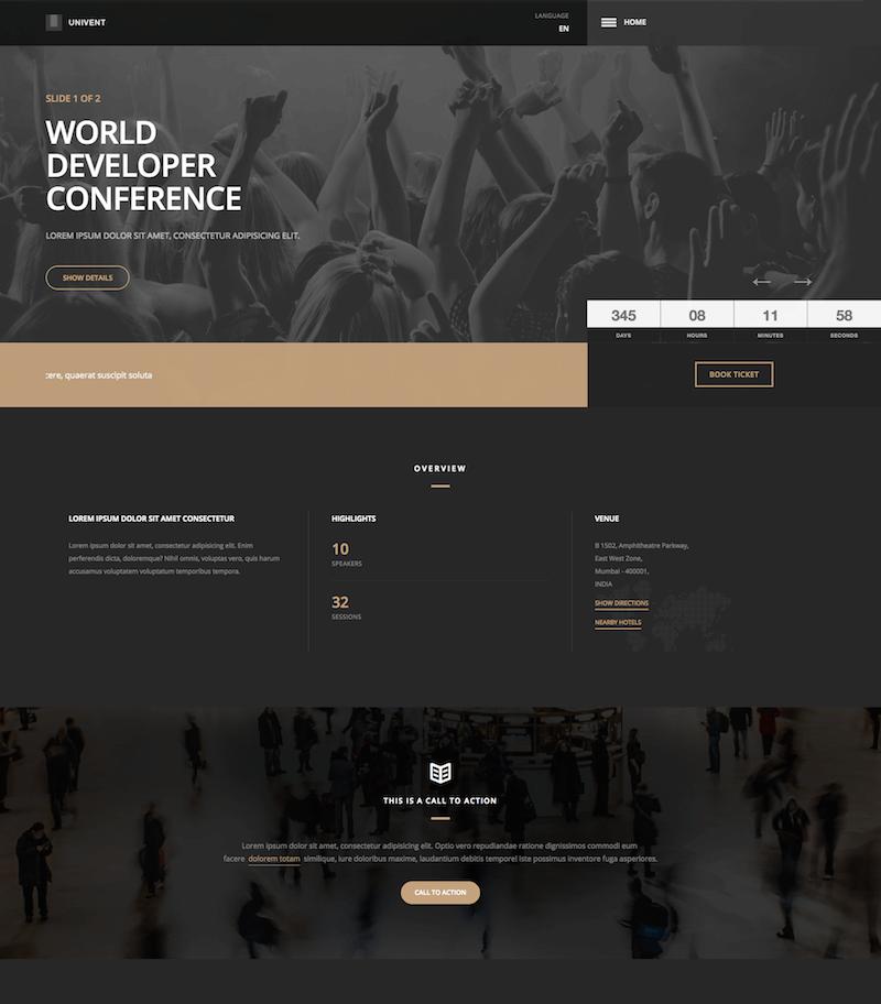 Univent Event Landing Page
