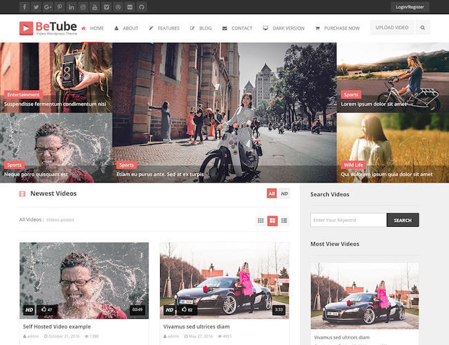 Betube-Video-WordPress-Theme