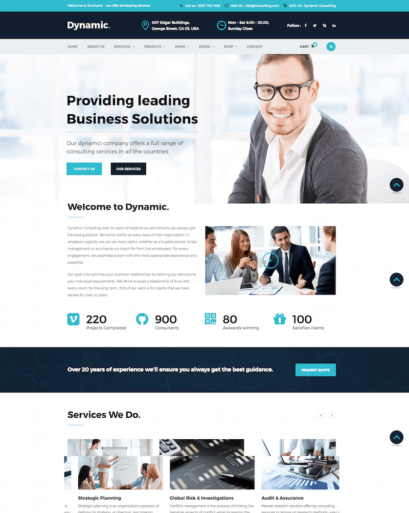 Dynamic Finance WordPress Theme