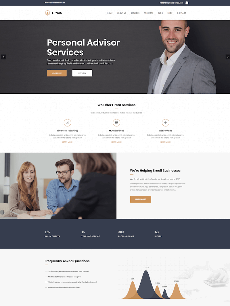 Ernast Business & Finance Theme