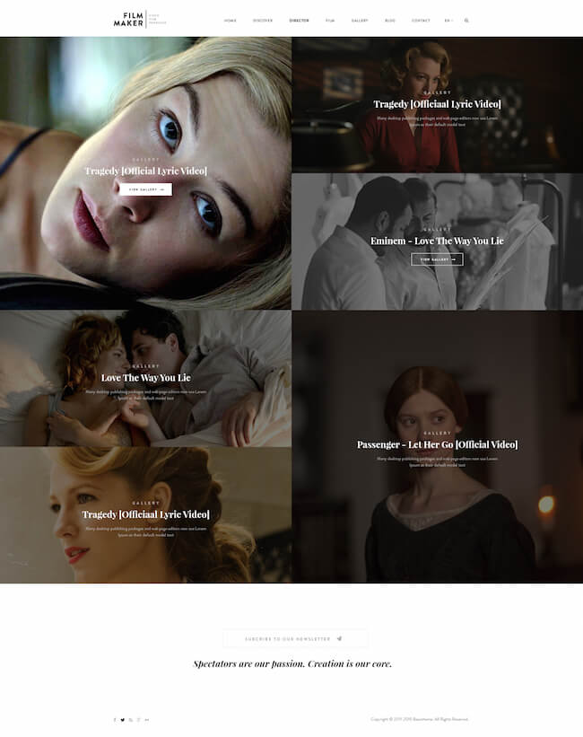 Filmmaker WordPress Theme