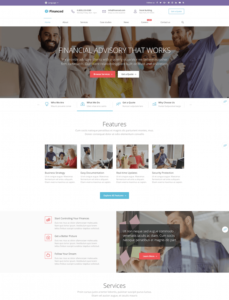 Finance Company WordPress Theme