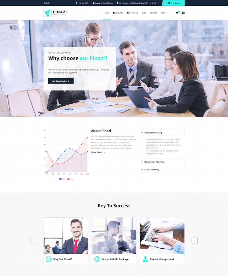 Finazi Finance WordPress Theme