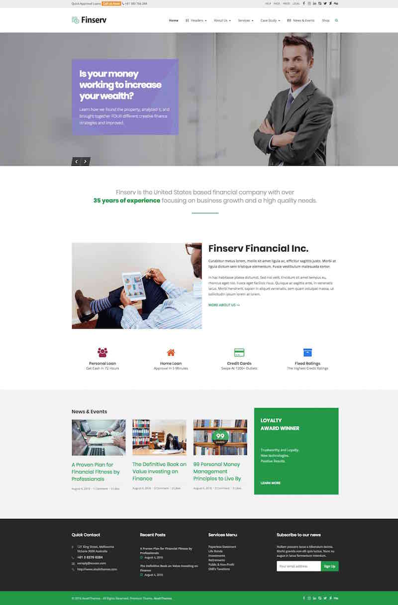 Finserv WordPress Theme