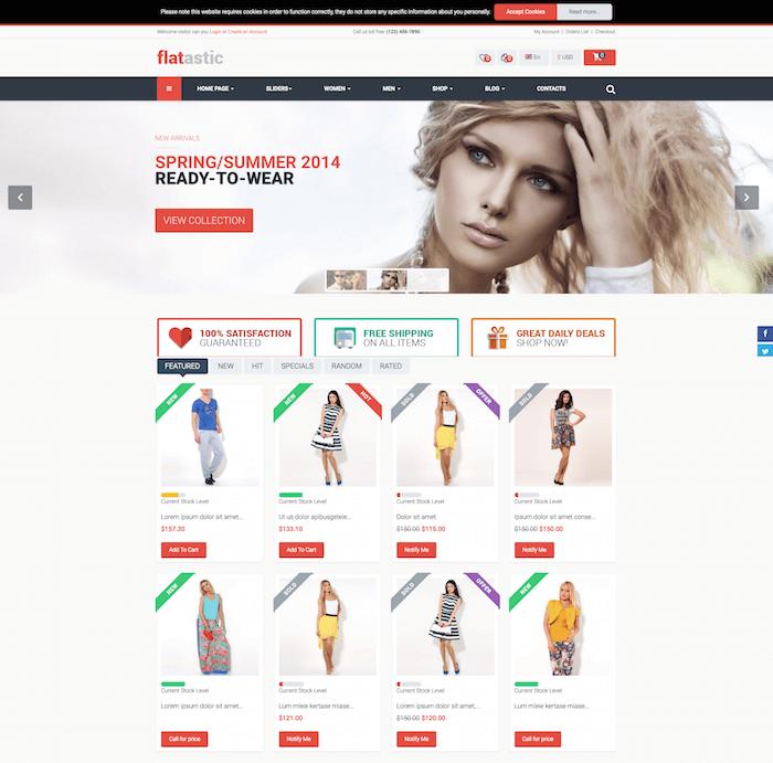 Flatastic eCommerce Joomla Template