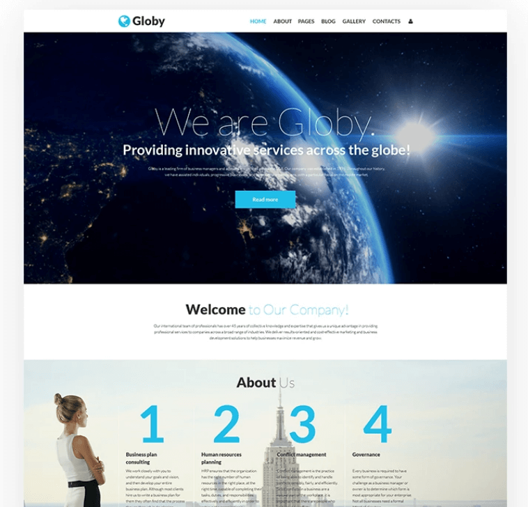 Globy Business Template