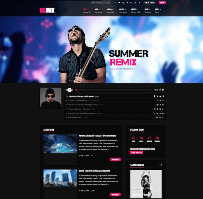 Remix Music Band Theme
