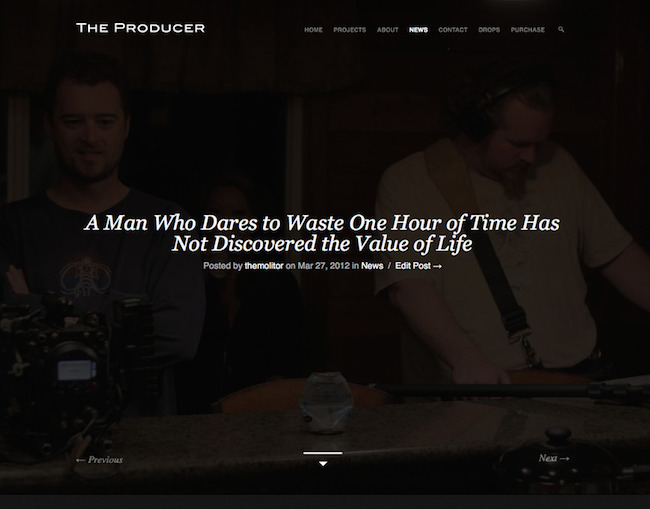 The Producer Video Theme