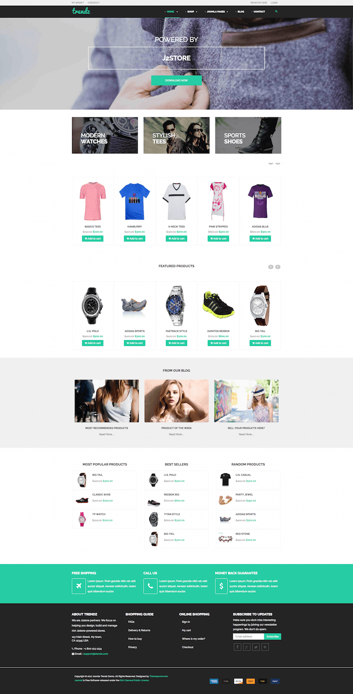 Trendz Joomla eCommerce Template