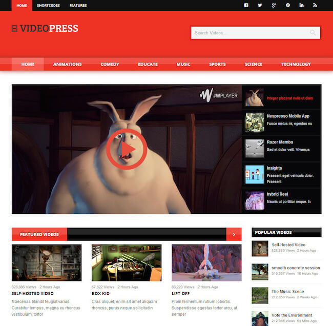 VideoPress WordPress Theme