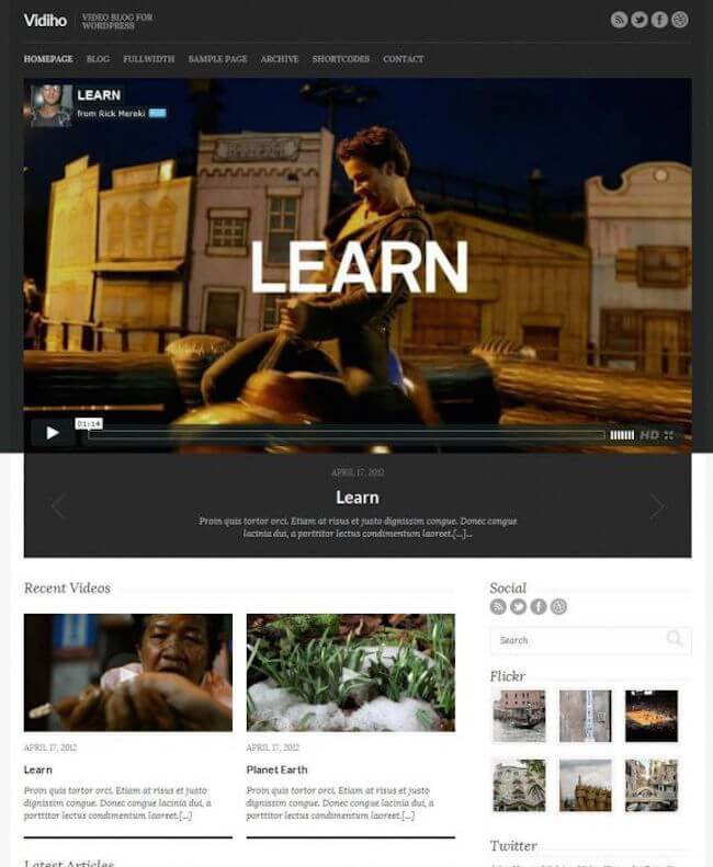 Vidiho WordPress Theme