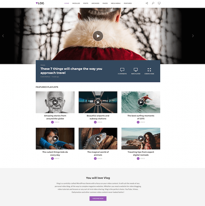 Vlog WordPress Theme