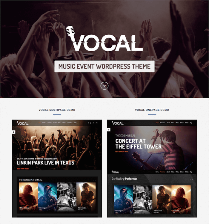 Vocal Music Event WordPress Theme