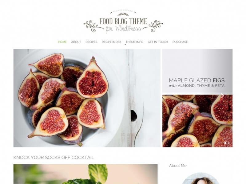 food-blog Theme