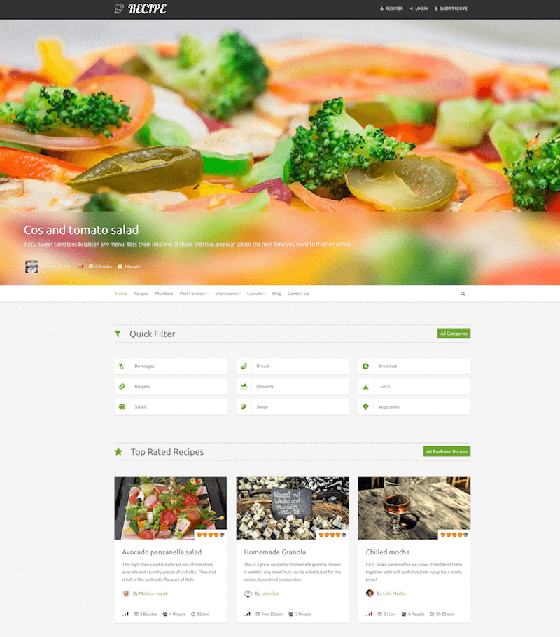 Recipe WP Theme