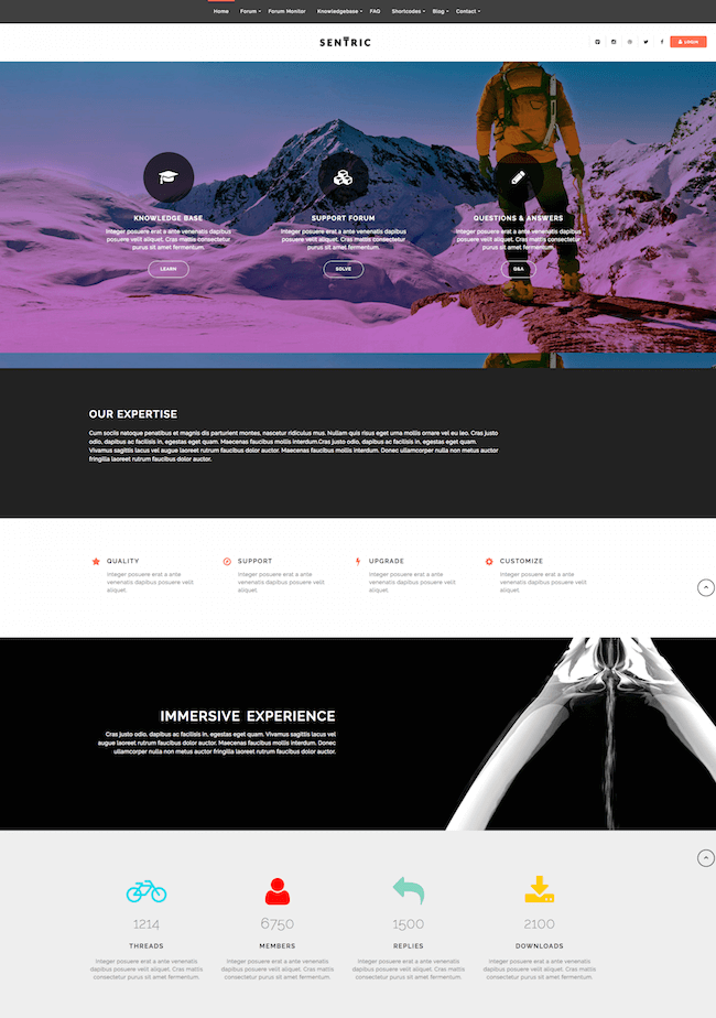 Sentric Knowledge Base Theme