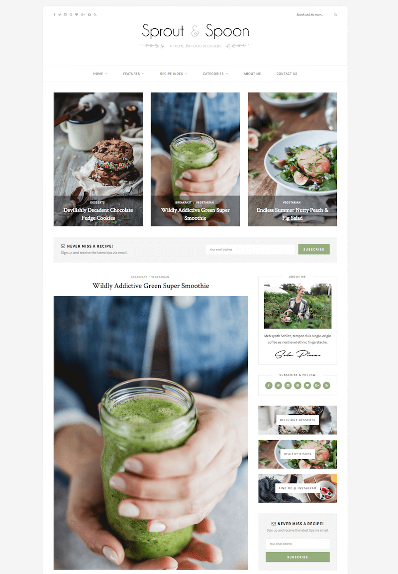 Sprout & Spoon WordPress Theme