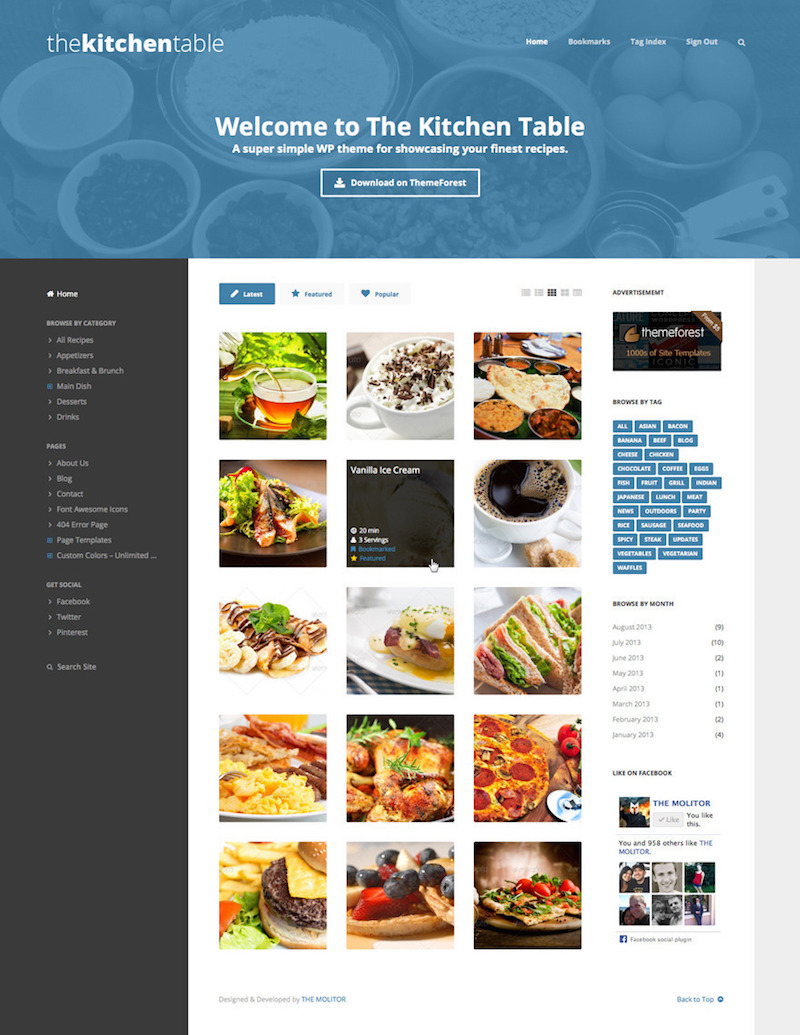The Kitchen Table WordPress Theme