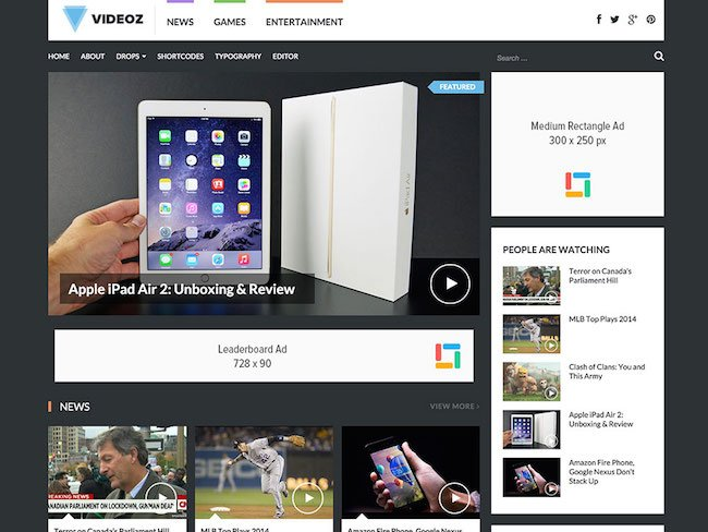 videoz-video-wordpress-theme