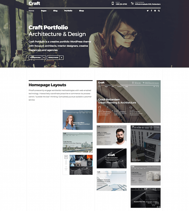 Craft Portfolio Theme