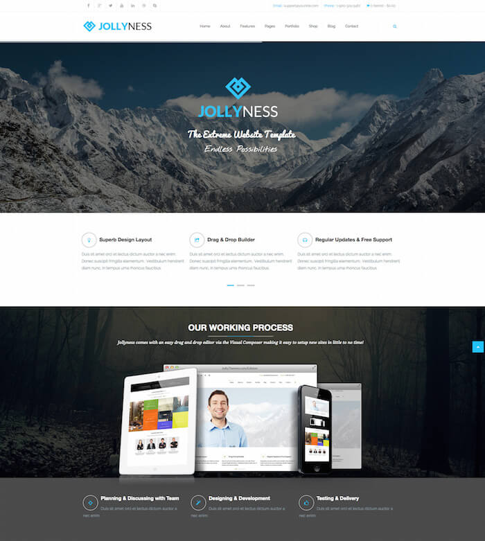 Jollyness Business Joomla Template