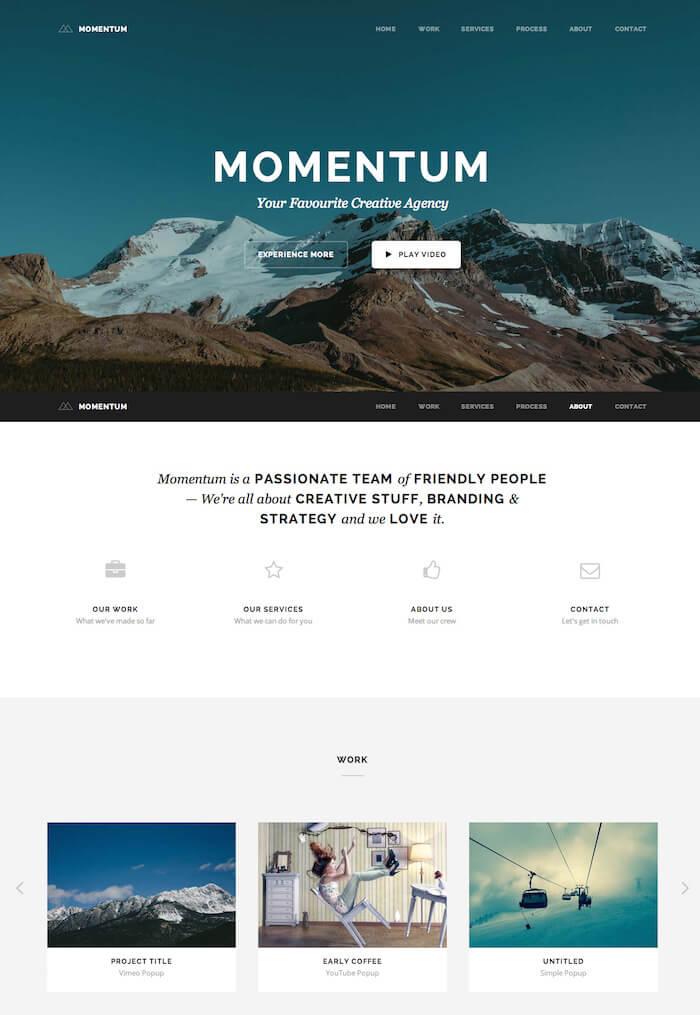 Momentum OnePage Joomla Template