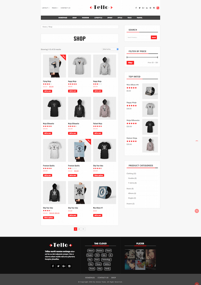 Tello WordPress Theme