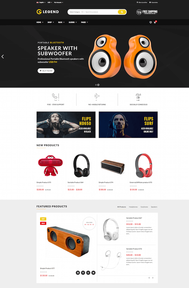 VG Legend WordPress Theme