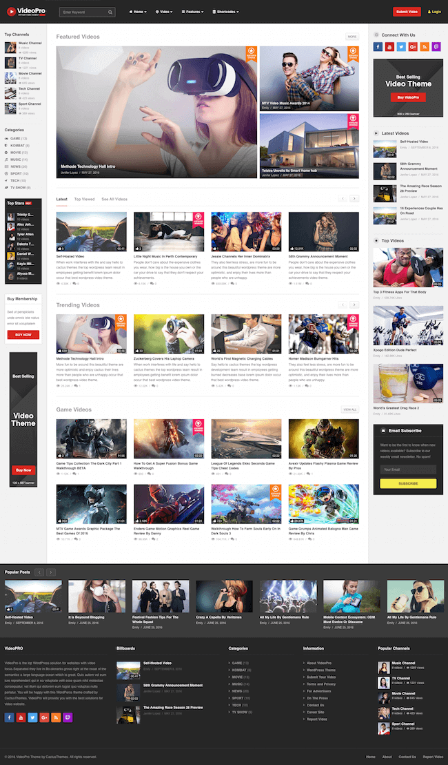 VideoPro-Video-WordPress-Theme