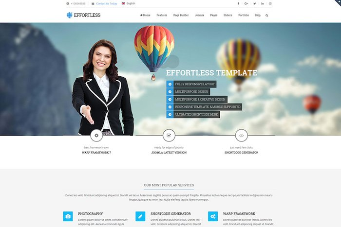 effortless joomla template