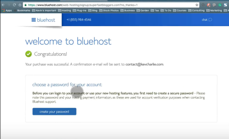 Creating a site with Bluehost