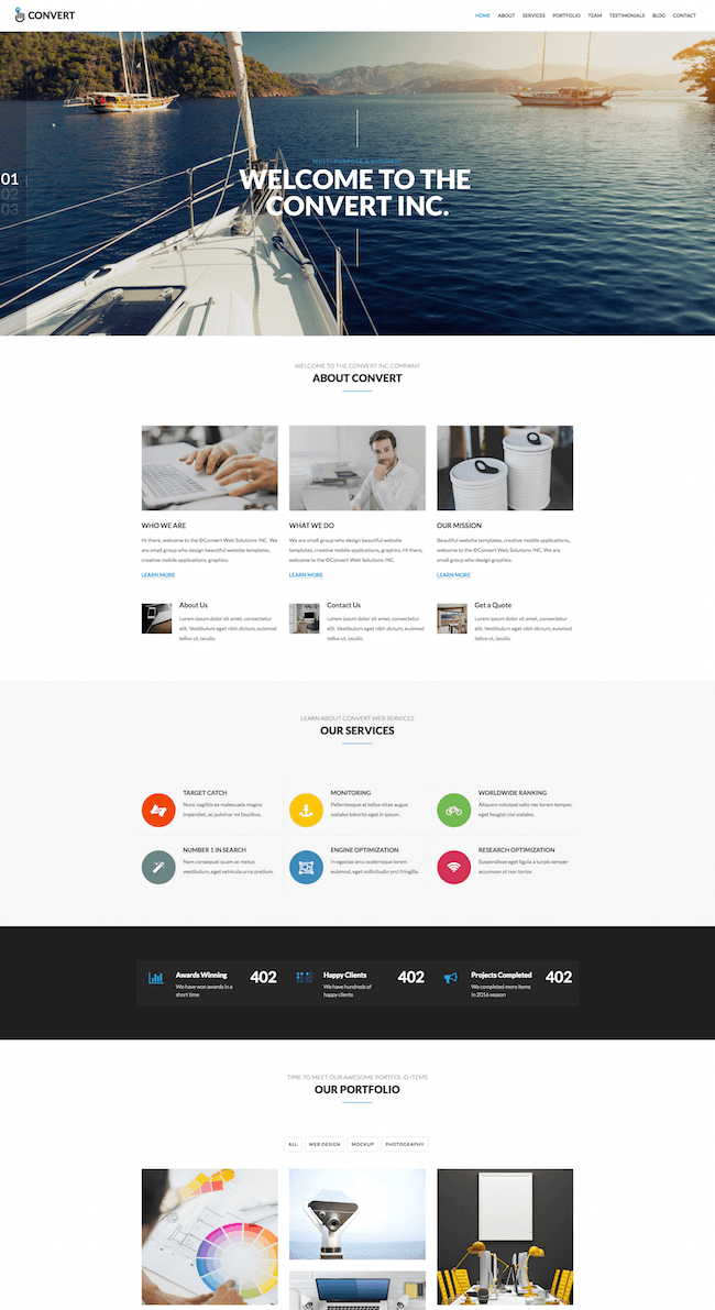 Convert HTML Multi-Purpose Site Template