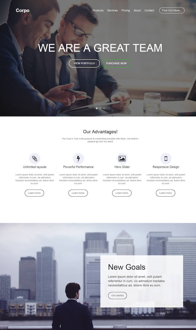 Corpo HTML5 Multi-Purpose Template