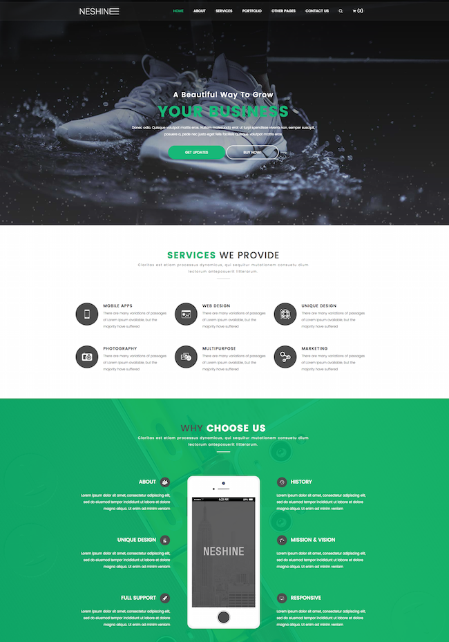 NESHINE HTML5 Template