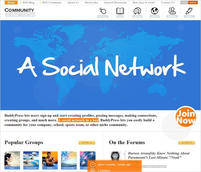 CommunityJunction-BuddyPress-Theme