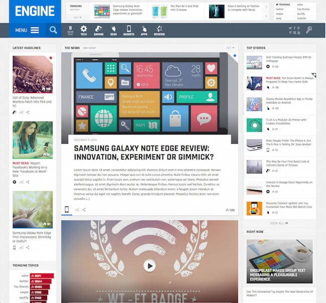 Engine-Drag-and-Drop-News-Magazine-theme