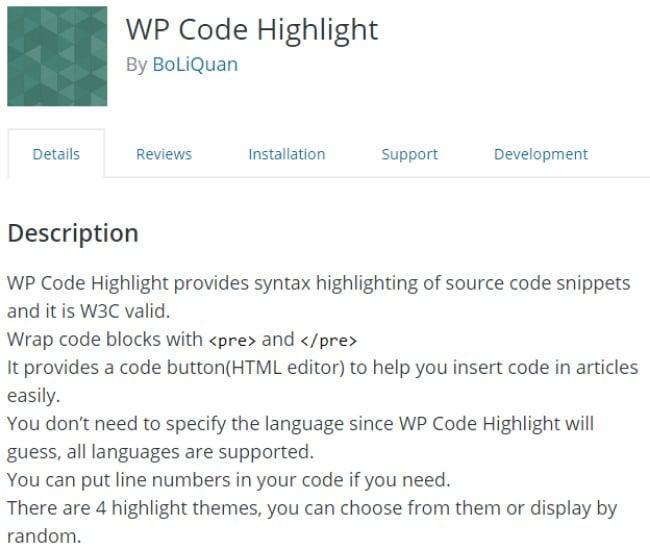 WP code