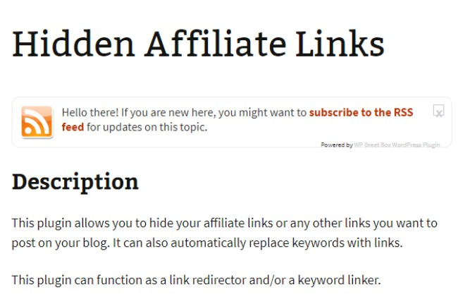 hidden affiliate links